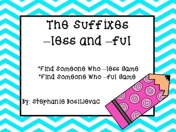 Suffix ful and less (Find Someone Who)