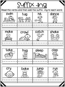 Suffix Worksheets For Kindergarten