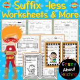 Suffix -less Worksheets & More