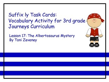 Suffix ly Task Cards for Journeys 3rd Grade