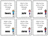 Suffix -y and -ful Scoot or Task Cards (Journey's 'My Name is Gabriela')
