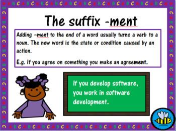 Suffix -ment