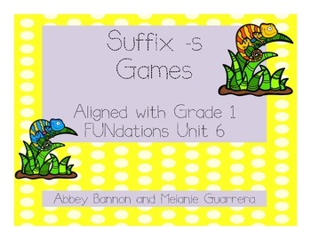 Suffix -s Games Pack