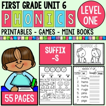 Level 1 Unit 6 Suffix -s Games and Printables