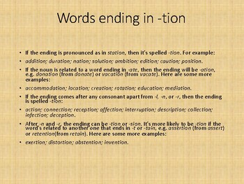 Suffix tion and sion spelling rule: Orton-Gillingham