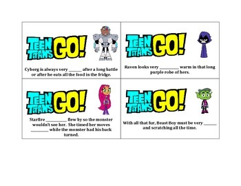 Suffix -y and -ly with Teen Titans Go