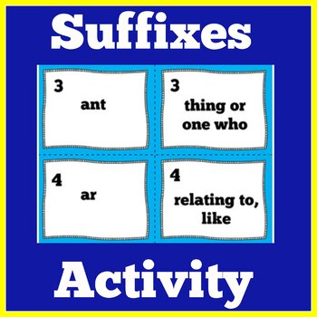Suffix Game | Suffix Games | Suffix Activity | Suffixes Activity