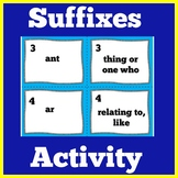 Suffixes | Worksheet Activity | 1st 2nd 3rd 4th 5th Grade