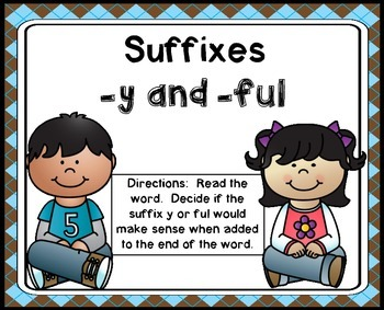 Suffixes y and ful