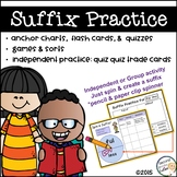 Suffixes Practice, Sorts, Quiz Quiz Trade, Anchor Charts & Assessments