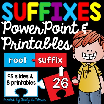 Suffixes PowerPoint and Printables