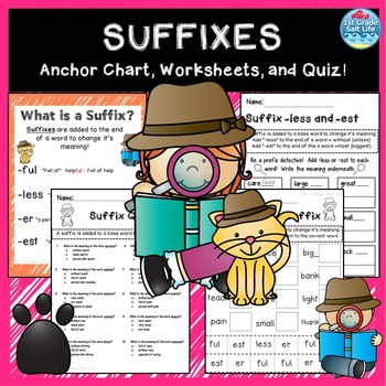 Suffixes Posters and Worksheets
