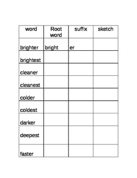 Suffixes 6