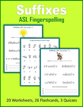 Suffixes (ASL Fingerspelling)