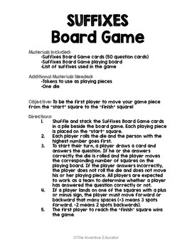 Suffixes Game