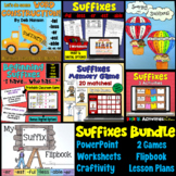 Suffixes Bundle of Activities: PowerPoint, Craftivity, Gam
