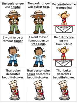 Suffixes Concentration Game