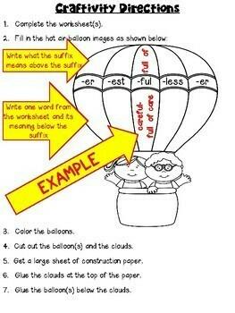 Suffixes Craftivity