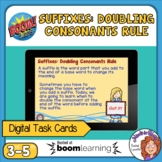 Suffixes: Doubling Consonants Boom Cards Digital Task Card