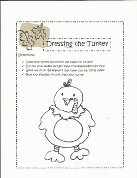 Suffixes: Dressing the Turkey