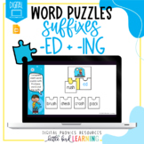 Suffixes -ED and -ING - Digital Word Puzzles | Distance Le