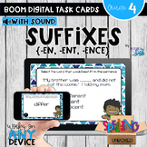 Suffixes (EN, ENT, ENCE) Boom Cards - Distance Learning