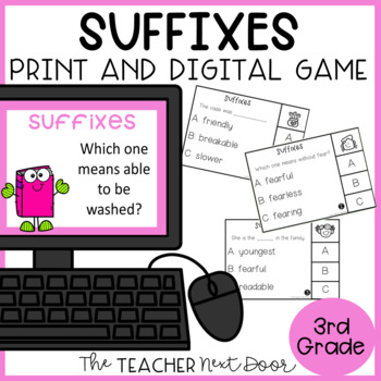 Suffixes Game | Suffixes Center | Suffixes Activities
