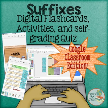 Suffixes Interactive Activities for Google Classroom and O