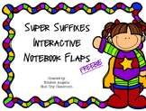 Suffixes Interactive Notebook Flaps (FREEBIE)