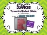 Suffixes Interactive Notebook Foldable (Grammar)