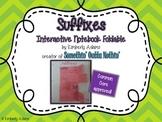 Suffixes Interactive Notebook Foldable (Grammar)