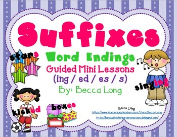 Suffixes - Mini ELA Unit