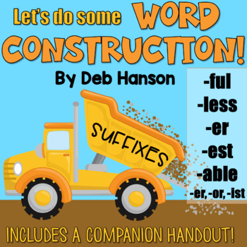 Suffixes Powerpoint (-er, -est, -ful, -less, -able, -er as a person)