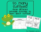 Suffixes Practice Activities