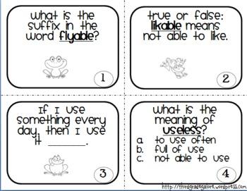 Suffixes Practice Activities