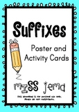Suffixes Printable Poster and Activity