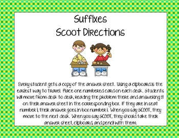 Suffixes Scoot