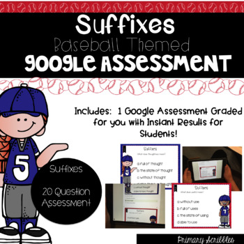 Suffixes Self-Graded Google Assessment