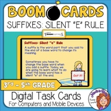 "Suffixes: Silent ""e"" Rule Interactive Digital Task Cards"