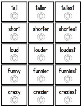 Suffixes Spelling - er, est - Adjectives - Holiday, Winter, Christmas, 2nd Grade