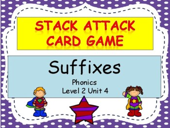 """Suffixes """"Stack Attack"""" card game"""