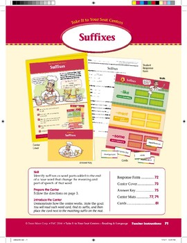 Suffixes (Take It to Your Seat Centers)