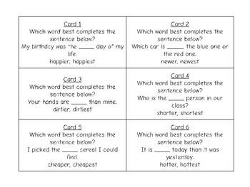 Suffixes Task Card Bundle