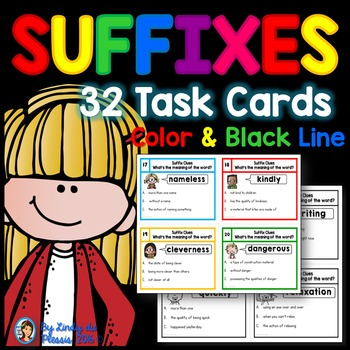Suffixes Task Cards - What's the meaning of the word?