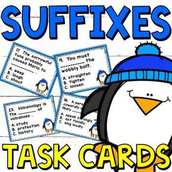 Suffixes Task Cards for Grades 3-4