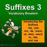 Suffixes - Vocabulary Boosters 3