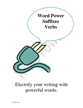 Suffixes -- Vocabulary -- Verb Word Power