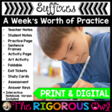 Suffixes Week Long Lessons Common Core Aligned