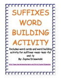 Suffixes Word Building Activity