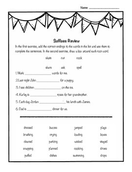 Suffixes Workbook - Grade 3-4